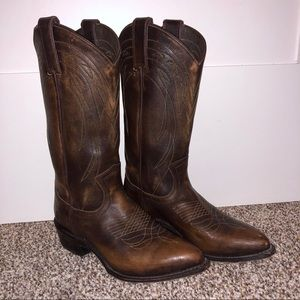 Frye Women's Billy Leather Boots - Brown Leather